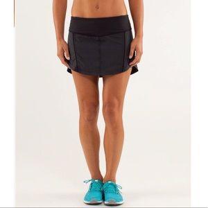 Lululemon Full Stride Skirt Shorts Black Women 2